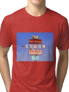 Pony Soldier Motel Sign, Route 66 Tri-blend T-Shirt