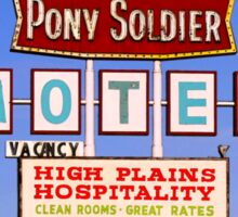 Pony Soldier Motel Sign, Route 66 Sticker