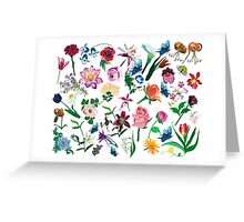 Assorted Colorful Flowers Pattern Greeting Card