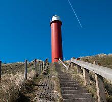Lighthouse along Dutch coast  by Rob Schoon