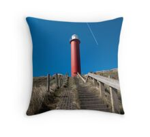 Lighthouse along Dutch coast  Throw Pillow