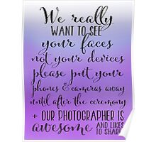 Wedding Photography 5 - Purple Poster