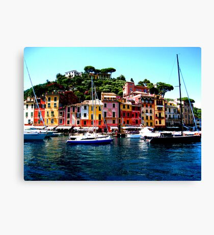 Along Side Portofino Canvas Print