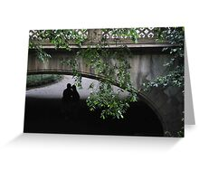 Secret Kiss, Central Park, NYC. Greeting Card