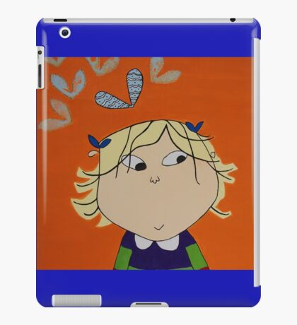 Lola with Butterfly Kisses iPad Case/Skin