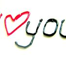 I Love You in icing by merran