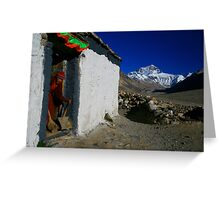 Mt Everest and the Monk, Tibet Greeting Card