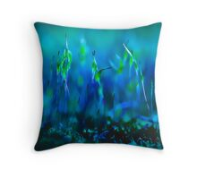 ...blues in green... Throw Pillow