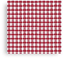 Hiccup Skull logo - Red&White Canvas Print