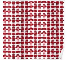Hiccup Skull logo - Red&White Poster