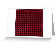 Hiccup Skull logo - Red&Black Greeting Card