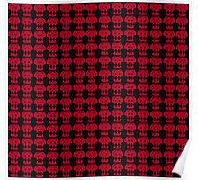 Hiccup Skull logo - Red&Black Poster