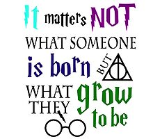 not is born grow to be harry potter quote by tekelronaldo