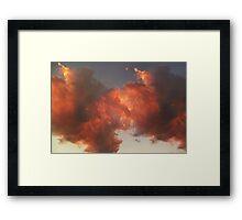 © HCS-DA Cloud Over Gold Framed Print