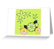 Cute patterned flowers Greeting Card