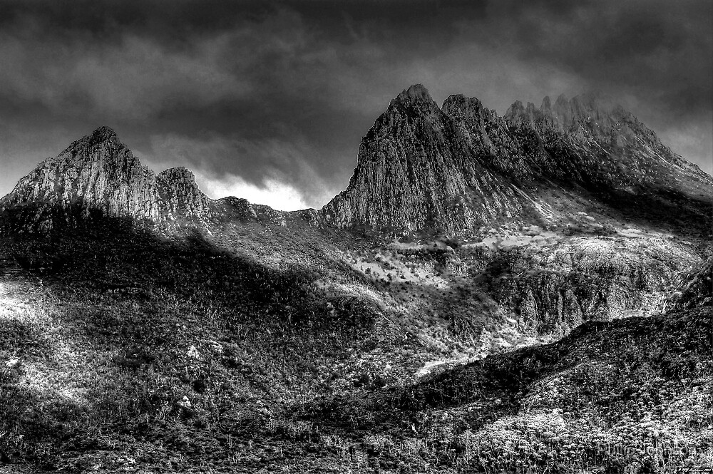 Cradle  Mountain -(Monochrome) Cradle Mountain National Park - The HDR Experience by Philip Johnson