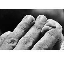 The Hand that holds.. Photographic Print