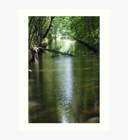 Blackstone River Canal. Art Print