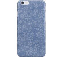 Floral Explosion - Rich Blue iPhone Case/Skin