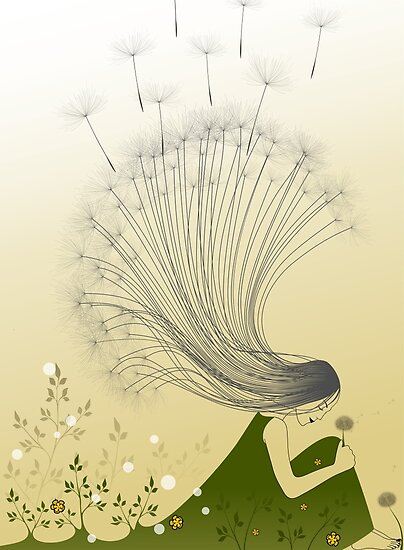 * the girl with dandelion hair * by franzi