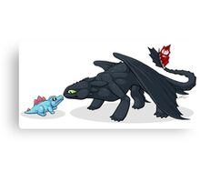 Toothless & Totodile Canvas Print