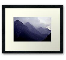 Alps, Austria in Mist Framed Print