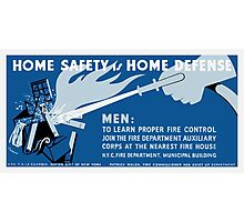 Home Safety Is Home Defense -- WPA Photographic Print