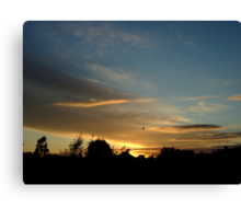Summer Sunset in a London Suburb (1) Canvas Print
