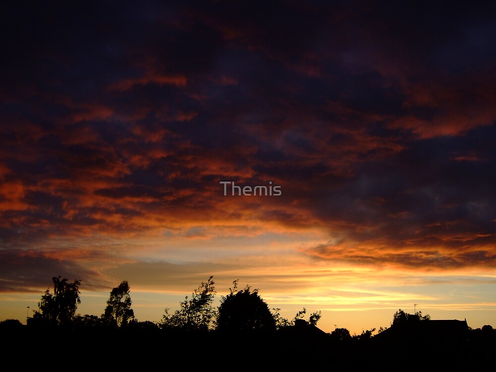Summer Sunset in a London Suburb (2) by Themis