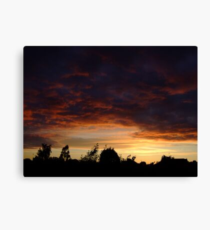 Summer Sunset in a London Suburb (2) Canvas Print