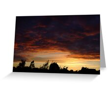 Summer Sunset in a London Suburb (2) Greeting Card