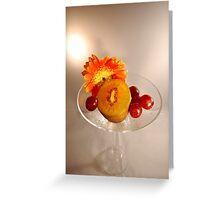Flower & Fruits In A Glass Greeting Card
