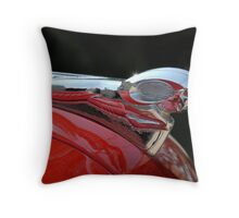 Vintage Dodge Hood Ornament Throw Pillow