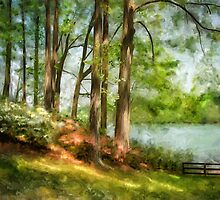 Triadelphia Lake In May by Lois  Bryan