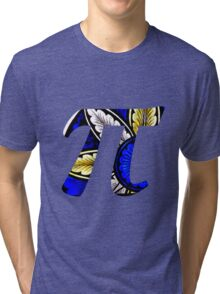 Stained Glass Pi 1 Tri-blend T-Shirt