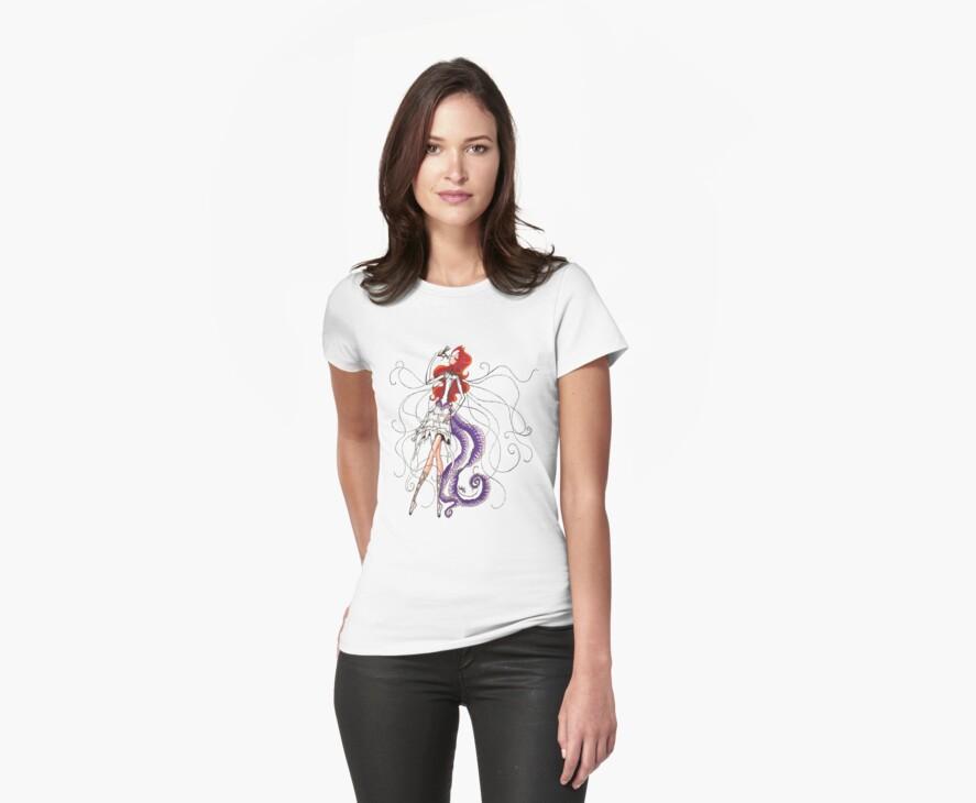 Lilac Euphoria & Black Beads Shirt by Vestque