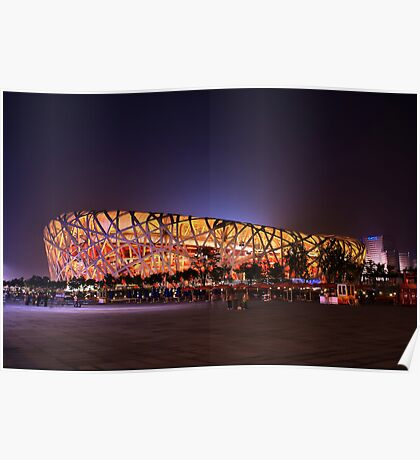 Beijing's Bird Nest Stadium - South side Poster