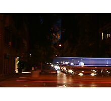 Taxi with Blur Photographic Print