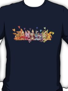 pokemon eevee espeon umbreon flareon cute chibi anime shirt T-Shirt
