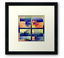 Imaginary reality in bite slices Framed Print