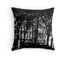 Study in Shadows, Bryant Park Throw Pillow