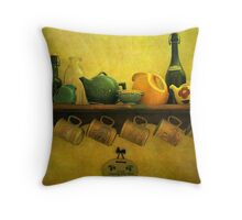 Wine and Tea Throw Pillow