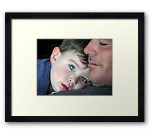 Proud Daddy.... Framed Print