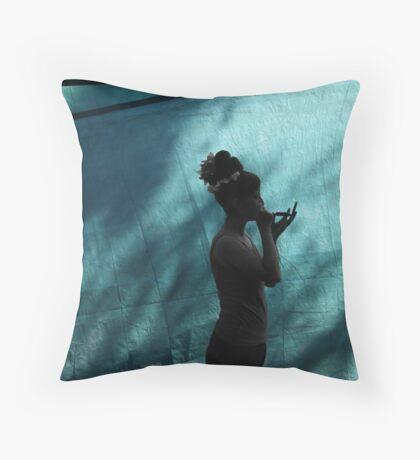 The Dancer Prepares Throw Pillow