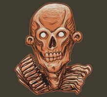 Zombie Skull Head Orange by Rustyoldtown