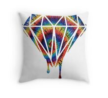 Diamond drip colour Throw Pillow