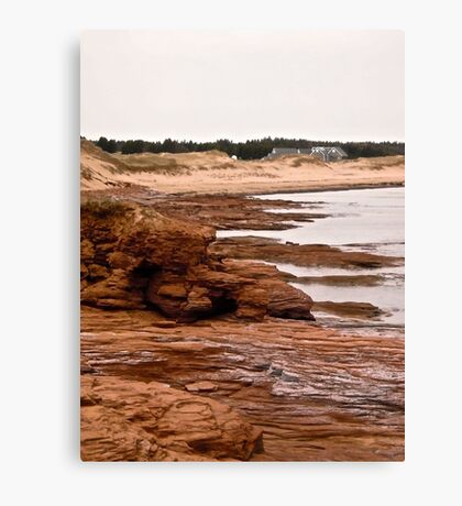 Rocks at Cavendish Beach, PEI, Canada Canvas Print