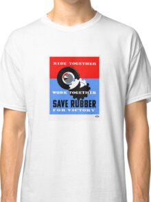 Save Rubber For Victory -- WPA Classic T-Shirt