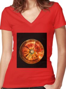 Vortex 2000 Rectangle Women's Fitted V-Neck T-Shirt