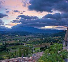 Sunrise in Crestet, France by Bruce Alexander